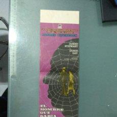 Cine: EL HOMBRE QUE SABIA DEMASIADO - ALFRED HITCHCOCK, JAMES STEWART, DORIS DAY. Lote 166629374
