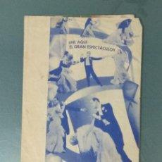 Cine: SOMBRERO DE COPA - 1936 - PROGRAMA DE MANO GRANDE DOBLE. Lote 166633246
