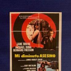 Cine: FOLLETO DE MANO MI DIMINUTO ASESINO. SIN PUBLICIDAD.. Lote 166696522