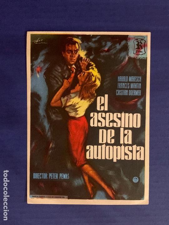 FOLLETO DE MANO EL ASESINO DE LA AUTOPISTA. SIN PUBLICIDAD. (Cine - Folletos de Mano - Acción)