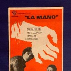 Cine: FOLLETO DE MANO LA MANO. SIN PUBLICIDAD.. Lote 166697666