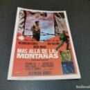 Cine: PROGRAMA DE MANO ORIG - MAS ALLA DE LAS MONTAÑAS - SIN CINE. Lote 166818806