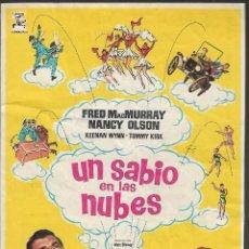 Cine: PROGRAMA DE CINE - UN SABIO EN LAS NUBES - FRED MACMURRAY, NANCY OLSON - CINE CAPITOL (MÁLAGA) 1961. Lote 186041058