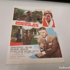 Cine: PROGRAMA DE MANO ORIG - MISION EN GINEBRA - SIN CINE. Lote 166904008