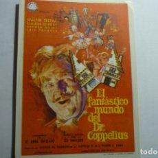 Cine: PROGRAMA EL FANTASTICO MUNDO DEL DR.COPPELIUS- PUBLICIDAD. Lote 166963472
