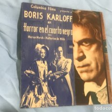 Cine: HORROR EN EL CUARTO NEGRO BORIS KARLOFF DOBLE SIN CINE. Lote 167124072