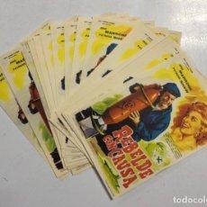 Folhetos de mão de filmes antigos de cinema: LOTE DE 50 PROGRAMAS DE CINE IGUALES. REBELDE CON CAUSA. JOSE MARRONE. MEDIDAS: 15.5 X 11 CM.. Lote 167268488