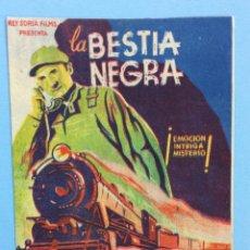 Cine: LA BESTIA NEGRA - FOLLETO EN MANO. Lote 167461164