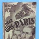 Cine: DIEZ DÍAS EN PARIS. Lote 167466866