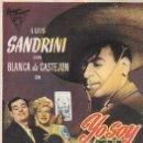 Cine: PROGRAMA DE CINE - YO SOY TU PADRE - LUIS SANDRINI, BLANCA DE CASTEJÓN - TEATRO PRINCIPAL (LUCENA) . Lote 167600792