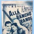 Cine: ALLÁ EN EL RANCHO GRANDE. Lote 167683748