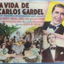 Cine: LA VIDA DE CARLOS GARDEL. Lote 167732517