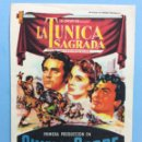 Cine: LA TÚNICA SAGRADA. Lote 167738328