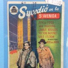 Cine: SUCEDIÓ EN LA 5ª AVENIDA. Lote 167791768