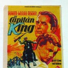 Cine: ALICANTE PROGRAMA CINE IDEAL EL CAPITAN KING EN CINEMASCOPE. Lote 167811640