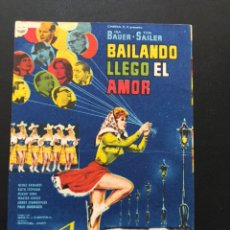 Cine: PROGRAMA BAILANDO LLEGÓ EL AMOR.INA BAKER.CON PUBLICIDAD. Lote 167825726