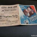 Cine: PROGRAMA DE MANO ORIG DOBLE - EL SEPTIMO CIELO - CINE DE ZARAGOZA . Lote 167852268