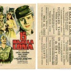 Cine: 15 BAJO LA LONA, CON CARLOS LARRAÑAGA.. Lote 167879273