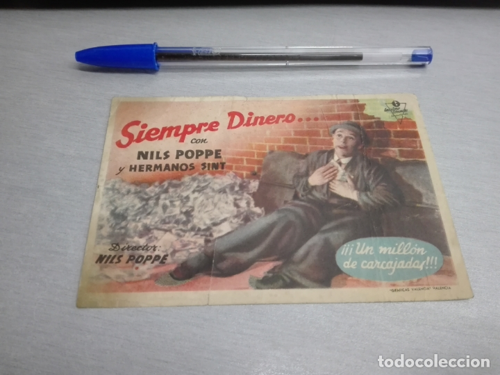 SIEMPRE DINERO... / NILS POPPE - HERMANOS SINT / SIN PUBLICIDAD (Cine - Folletos de Mano - Comedia)