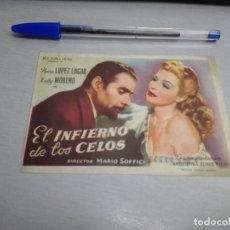 Cine: EL INFIERNO DE LOS CELOS / PEDRO LÓPEZ LAGAR - ZULLY MORENO / SIN PUBLICIDAD. Lote 167959364