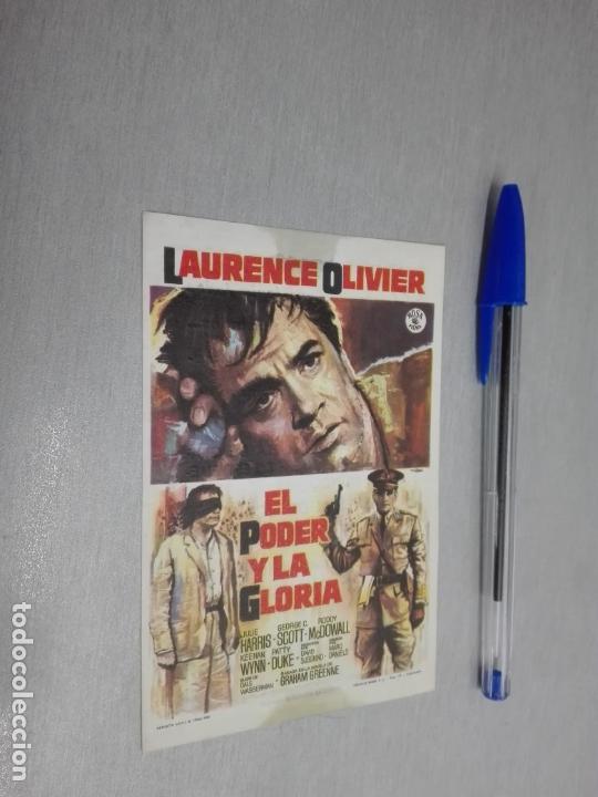 EL PODER Y LA GLORIA / LAURENCE OLIVIER / PUBLICIDAD AYALA Y FILARMÓNICA (Cine - Folletos de Mano - Acción)