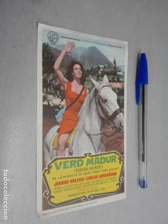 VERD MADUR (SIEGA VERDE) / JEANNE VALERIE - CARLOS LARRAÑAGA / PUBLICIDAD SALÓN ROSA... (Cine - Folletos de Mano - Acción)