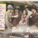Cine: PROGRAMA DE CINE - BERLIN EXPRESS - MERLE OBERON, ROBERT RYAN - RKO RADIO - CINE GOYA - 1948.. Lote 168012252