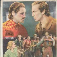 Flyers Publicitaires de films Anciens: PROGRAMA DE CINE - BUFFALO BILL - GARY COOPER, JEAN ARTHUR - CINE MODERNO - 1936.. Lote 168021348