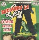 Cine: PROGRAMA DE CINE - BURLANDO LA LEY - EDMOND O'BRIEN, MARLA ENGLISH UNITED ARTISTS - CINE GOYA 1954. Lote 168023240