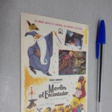 Cine: MERLÍN EL ENCANTADOR / WALT DISNEY - PUBLICIDAD CINE GLORIA ELDA. Lote 183757265