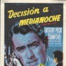 Cine: PROGRAMA DE CINE - DECISIÓN A MEDIANOCHE - GREGORY PECK - 20TH CENTURY FOX - CINE GOYA (MÁLAGA) 1954. Lote 168025512