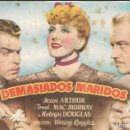 Cine: PROGRAMA DE CINE - DEMASIADOS MARIDOS - JEAN ARTHUR, FRED MAC MURRAY - CINE ALKAZAR (MÁLAGA) - 1940. Lote 168034076