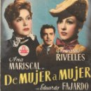 Cine: PROGRAMA DOBLE - DE MUJER A MUJER - ANA MARISCAL, AMPARITO RIVELLES - CIFESA - CINE ESPAÑA (LUCENA) . Lote 168035944