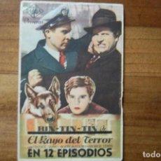 Flyers Publicitaires de films Anciens: RIN-TIN-TIN EL RAYO DEL TERROR (1947). Lote 168036728