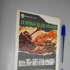 Cine: LA BATALLA DE LAS ARDENAS / HENRY FONDA - ROBERT SHAW... / PUBLICIDAD CINE GLORIA ELDA. Lote 186208491
