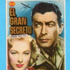 Cine: DOS FOLLETO DE MANO DE EL GRAN SECRETO PUBLICIDAD CINE ESPAÑOL 1954. Lote 168039520