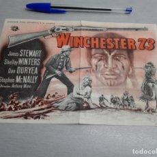 Cine: WINCHESTER 73 / JAMES STEWART - SHELLEY WINTERS... / PUBLICIDAD CINEMA ROSALES. Lote 168044836