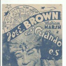 Cine: PROGRAMA CINE ¿CUANDO ES TU CUMPLEAÑOS? JOE E. BROWN.RKO RADIO FILMS. Lote 168111172