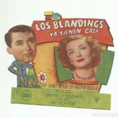 Cine: PROGRAMA ORIGINAL CINE MANO TROQUELADO LOS BLANDINGS YA TIENEN CASA. Lote 168116068