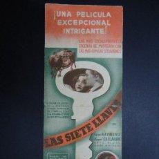 Cine: LAS SIETE LLAVES. 1939 GENE RAYMOND, MARGARET CALLAHAN RADIO FILMS DOBLE . Lote 168173116