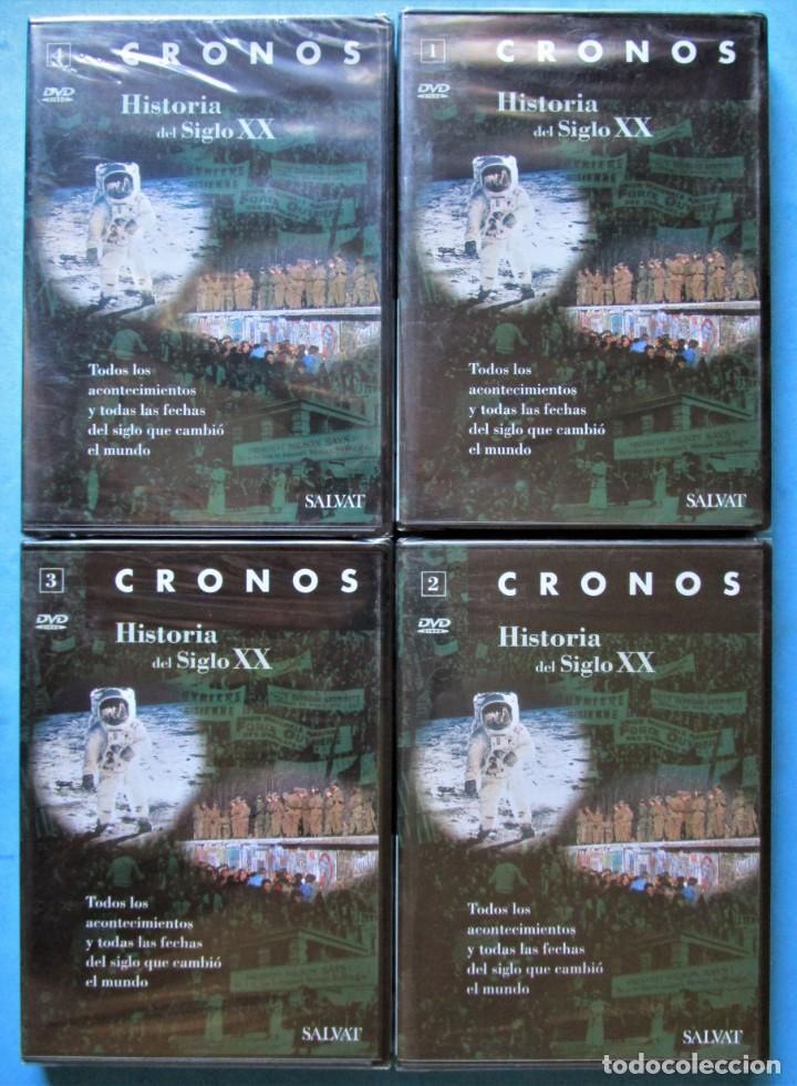 4 DVD CRONOS - HISTORIA DEL SIGLO XX (COMPLETA) - SALVAT PRECINTADOS (Cine - Folletos de Mano - Documentales)