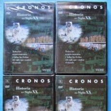 Foglietti di film di film antichi di cinema: 4 DVD CRONOS - HISTORIA DEL SIGLO XX (COMPLETA) - SALVAT PRECINTADOS. Lote 168175640
