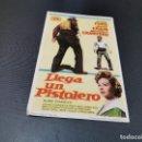 Cine: PROGRAMA DE MANO ORIG - LLEGA UN PISTOLERO - CINE DE SUEROS DE CEPEDA, LEON, 1966. Lote 168201228