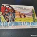 Cine: PROGRAMA DE MANO ORIG - DE LOS APENINOS A LOS ANDES - CINE DE SUEROS DE CEPEDA, LEON, 1965. Lote 168201780