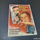 Cine: PROGRAMA DE MANO ORIG - ROCVO, EL HIJO DEL GANGSTER- CINE DE SUEROS DE CEPEDA, LEON, 1965. Lote 168202440