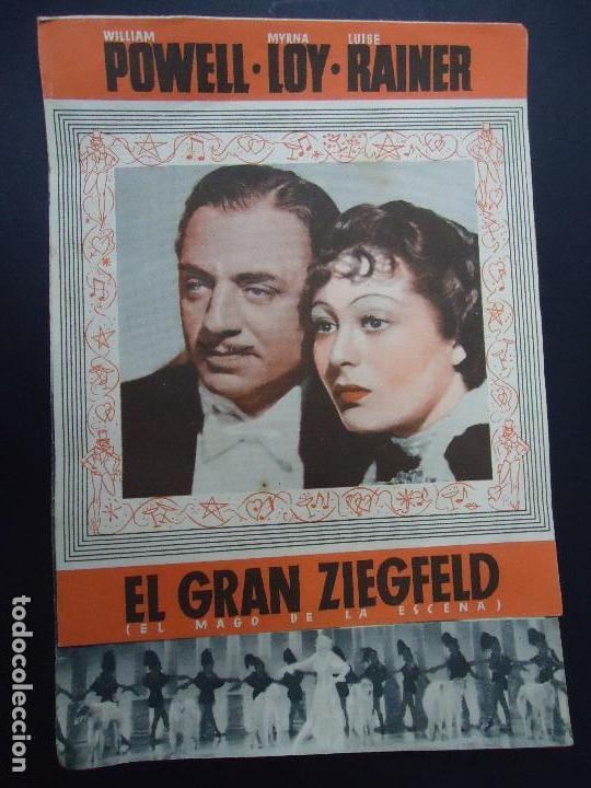 EL GRAN ZIEGFELD 1938 WILLIAM POWELL, MYRNA LOY DOBLE (Cine - Folletos de Mano - Musicales)