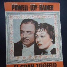 Cinema - EL GRAN ZIEGFELD 1938 WILLIAM POWELL, MYRNA LOY DOBLE - 168208532
