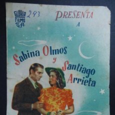 Cine: HISTORIA DE UNA NOCHE 1944 LUIS SASLAVSKI-SABINA OLMOS-SANTIAGO ARRIETA-MARIANO MAURANO DOBLE. Lote 168211288
