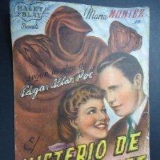 Cine: EL MISTERIO DE MARIA ROGET 1946 BALET Y BLAY MARIA MONTEZ PUBLICIDAD DEL CINEMA ELISEOS SENCILLO . Lote 168221640