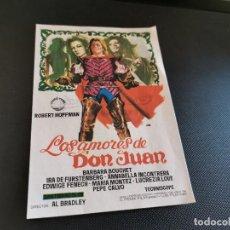 Cine: PROGRAMA DE MANO ORIG - LOS AMORES DE DON JUAN - CINE AVELLANEDA . Lote 168271800